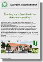 Einladung zur Generalversammlung des Schützenvereins