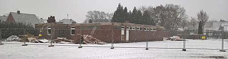 Abriss der Schießhalle Wippingen
