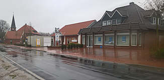 Volksbank Wippingen mit Container für Behelfsgeschäftsstelle