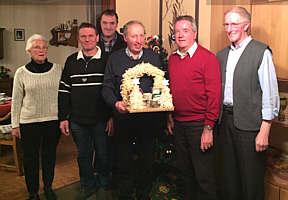 (von links): Renate Schmitt, Otto Gerdes, Wilfried Schmunkamp, Klaus Abeln, Gerd Hempen und Bernd Kuper