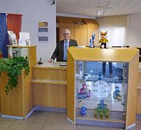 Geschäftsstellenleiter Heinrich Jungeblut in der Volksbank Emstal Wippingen Januar 2019