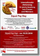 Flyer mit Aufruf zum Equal Pay Day