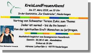 Flyer Landfrauentag in Niederlangen