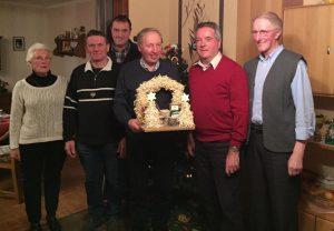 (von links): Renate Schmitt, Otto Gerdes, Wilfried Schmunkamp, Klaus Abeln, Gerd Hempen und Bernd Kuper.
