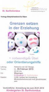 Einladung des Kindergartens Wippingen zum Elternabend am 5.02.2019