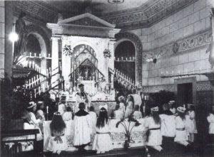 Gemeindemission in Wippingen 1929 oder 1930 mit Pastor Körber, Foto aus Chronik der Gemeinde Wippingen, Seite 199