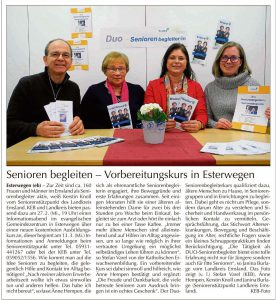 EL-Kurier vom 24.02.2019, Änne Hempen als ehrenamtliche Seniorenbegleiterin