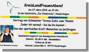 Flyer zum Landfrauentag Niederlangen 2018
