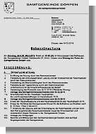 Einladung zur Samtgemeinderatssitzung
