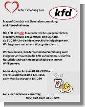 Flyer der KFD zur Generalversammlung