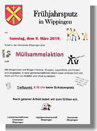 Flyer zur Müllsammelaktion 2019 in Wippingen