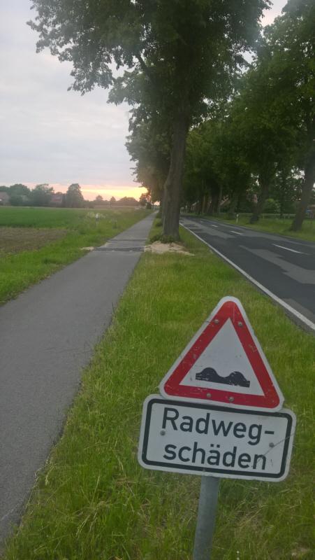 Fahrradweg Zum Turm Wippingen