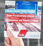 DGB-Resolution gegen die Autobahnprivatisiung