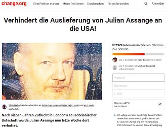 Zur Petition für die Freilassung von Julian Assange