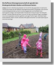 Kindergartenbericht über Spende der Raiffeisen-Warengenossenschaft