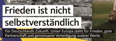 Parole von CDU-Wahlplakat zur Europawahl