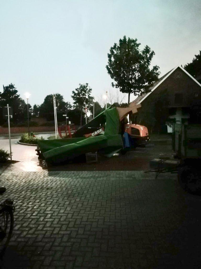 Der durch eine Böe zerstörte Bogen vom Juni 2019