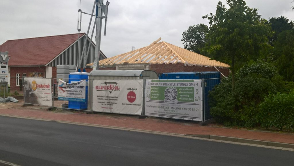 Baustelle Volksbank Wippingen 2019