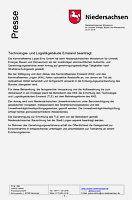 PM des Niedersächsischen Umweltministeriums vom 22.07.2019