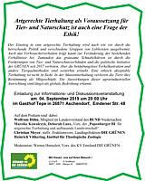 Einladung Podiumsdiskussion Die Grünen