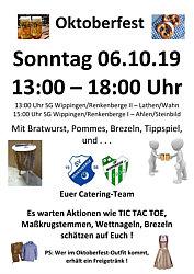 Einladung zum Oktoberfest 2019 SV Wippingen