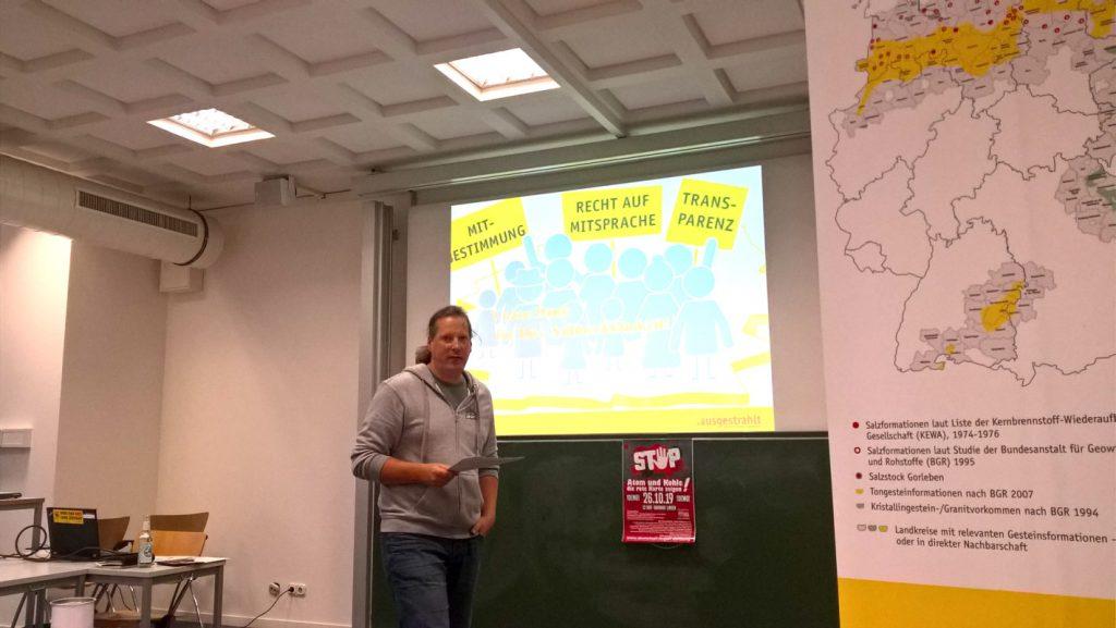 """Helge Bauer von """"ausgestrahlt"""" in Osnabrück am 12.110.2019"""