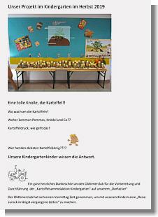 Projektbericht des Kindergartens 09/2019