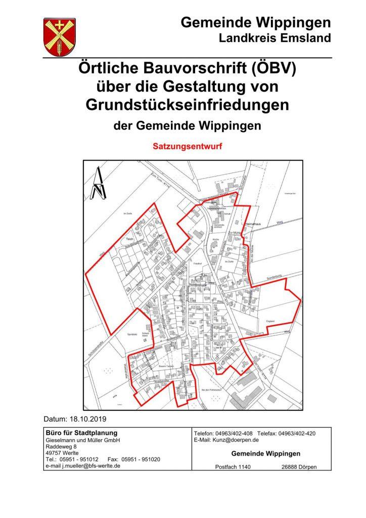 Satzung über die Gestaltung von Grundstückseinfriedungen
