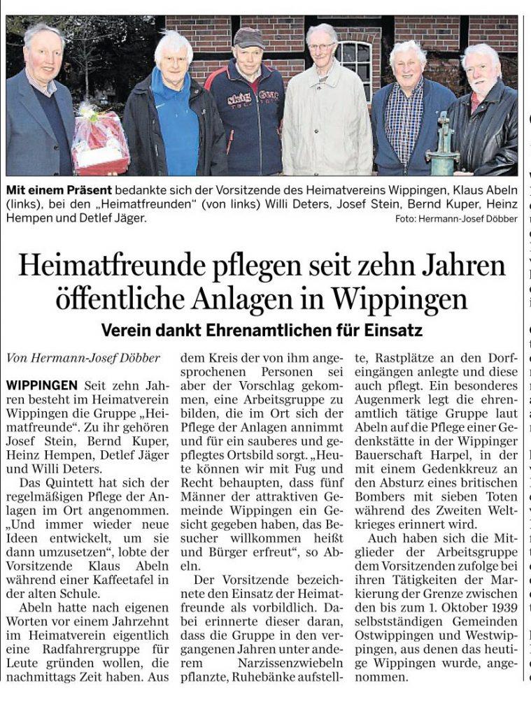 Ems-Zeitung vom 27.11.2019 - Wippinger Heimatfreunde