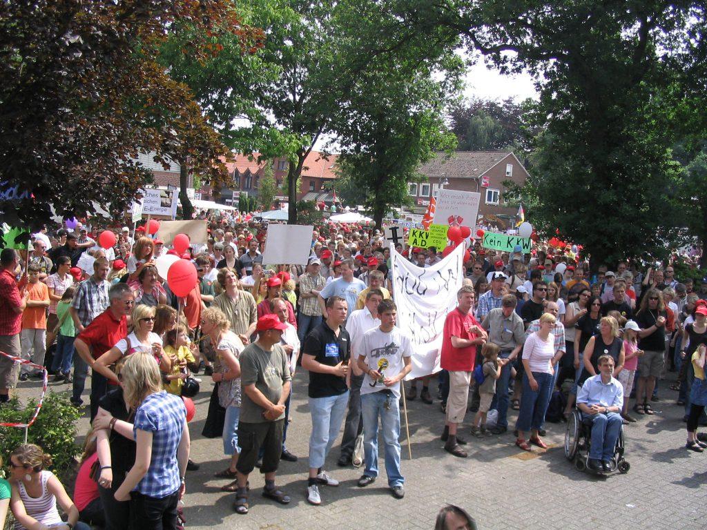 Demonstration in Dörpen am 1.06.2008