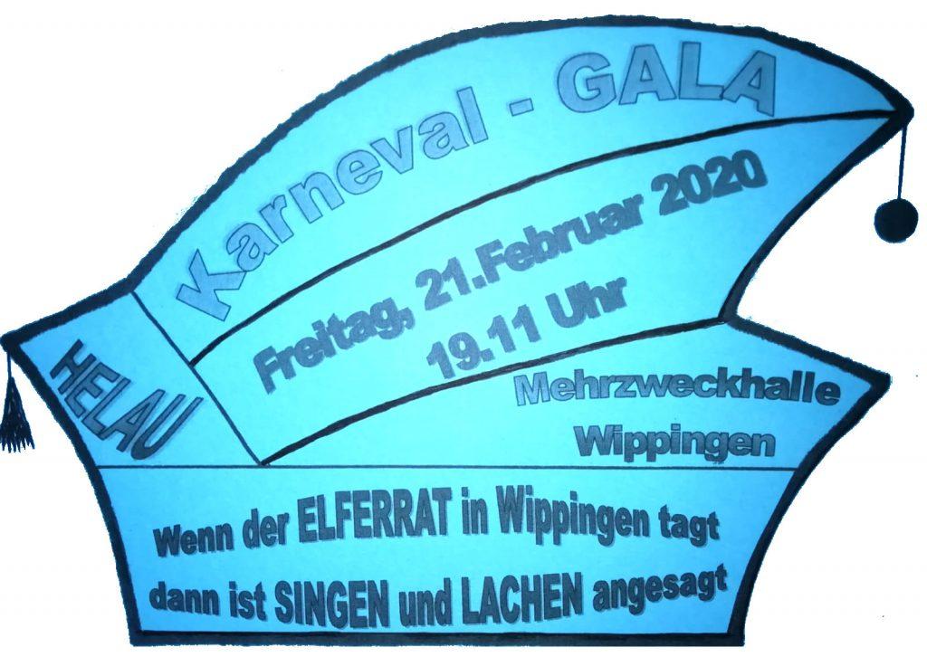 Flyer zur Wippinger Karnevalssitzung 2020