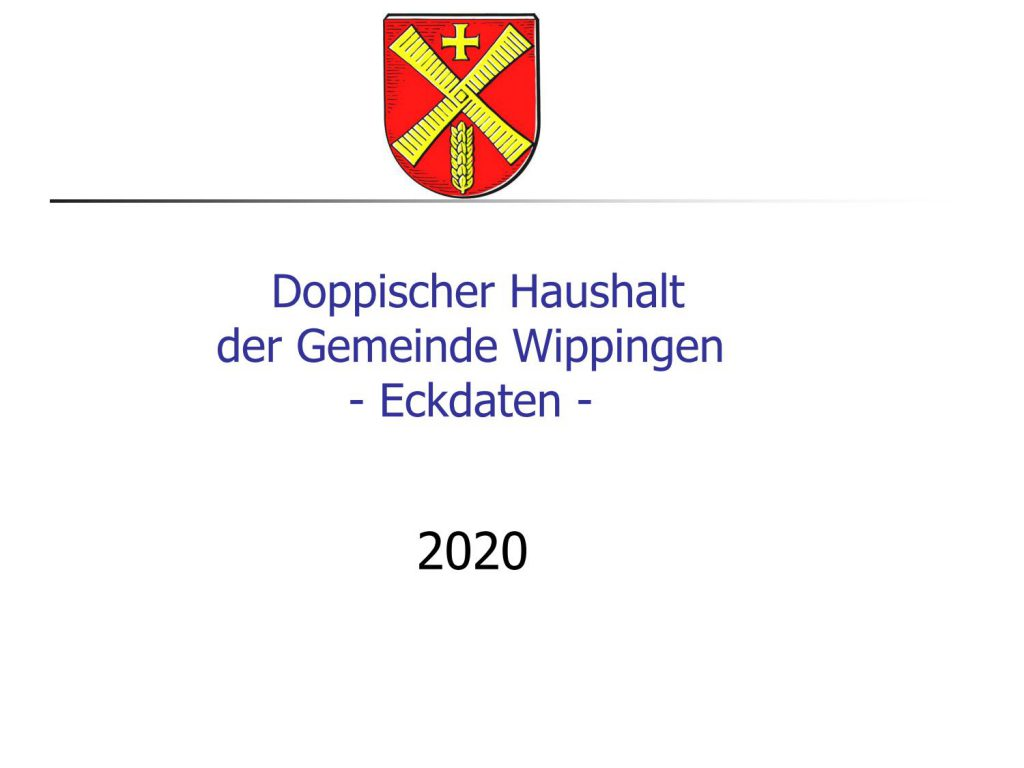 Eckdaten des Haushaltsplan Wippingen 2020