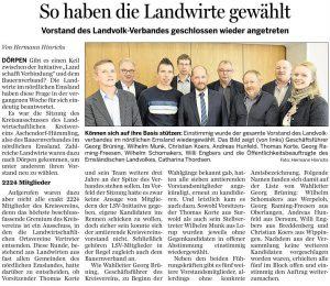 Ems-Zeitung vom 16.03.2020, Vorstandswahl Landvolk