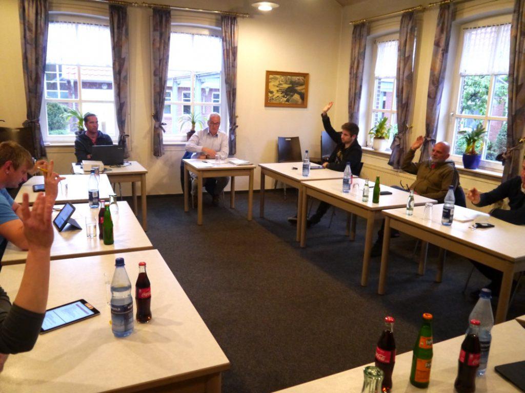 Wippinger Gemeinderatssitzung in Corona-Sitzordnung am 28.04.2020