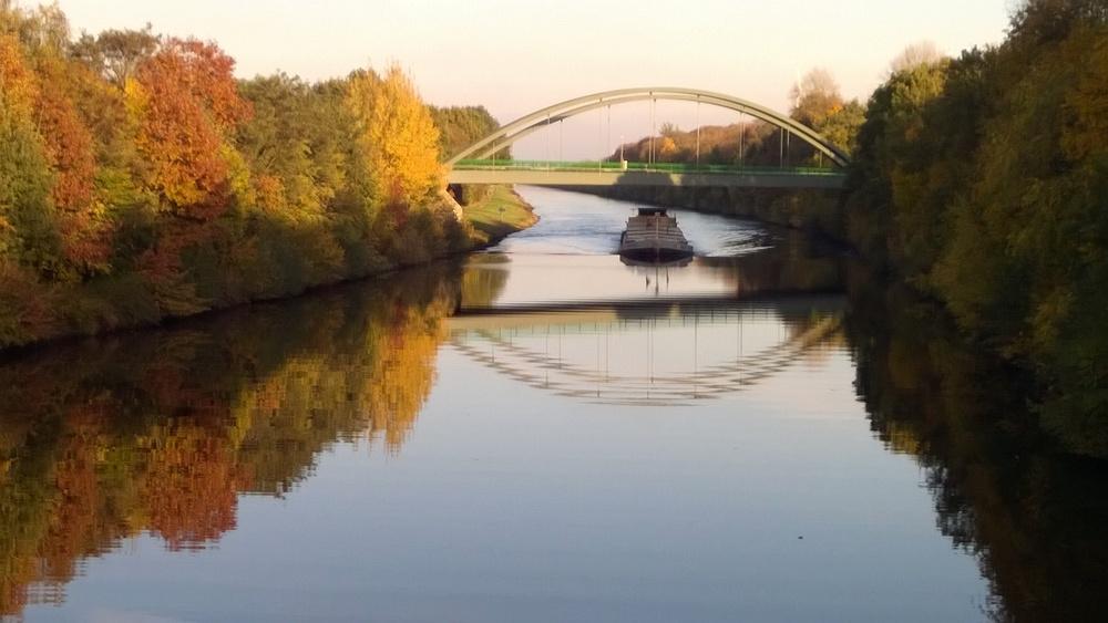 Blick von der alten Brücke in Dörpen-Haar