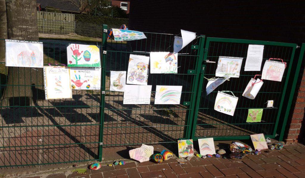 Zaun des Kindergartens in der Pfarrer-Schniers-Straße