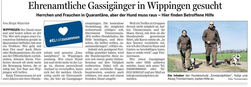 Ems-Zeitung vom 3.04.2020