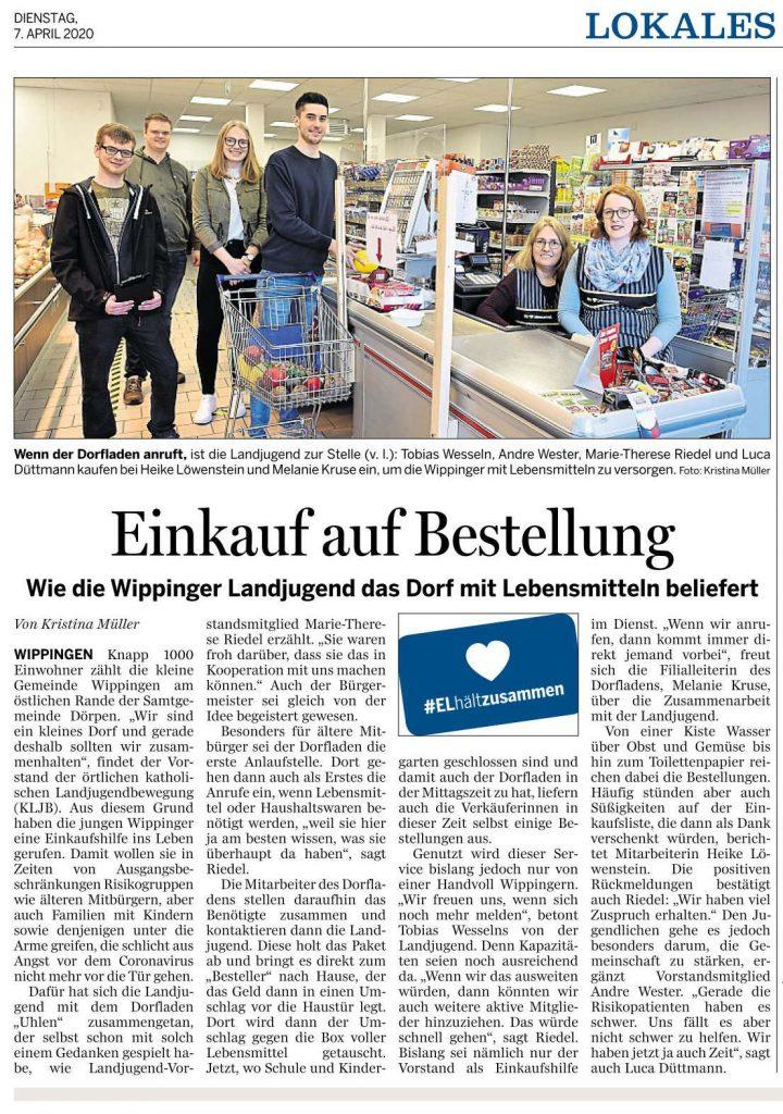 Ems-Zeitung vom 07.04.2020