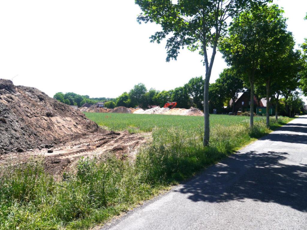 Erschließungsarbeiten im Baugebiet Sonderburg/Fleerstraße