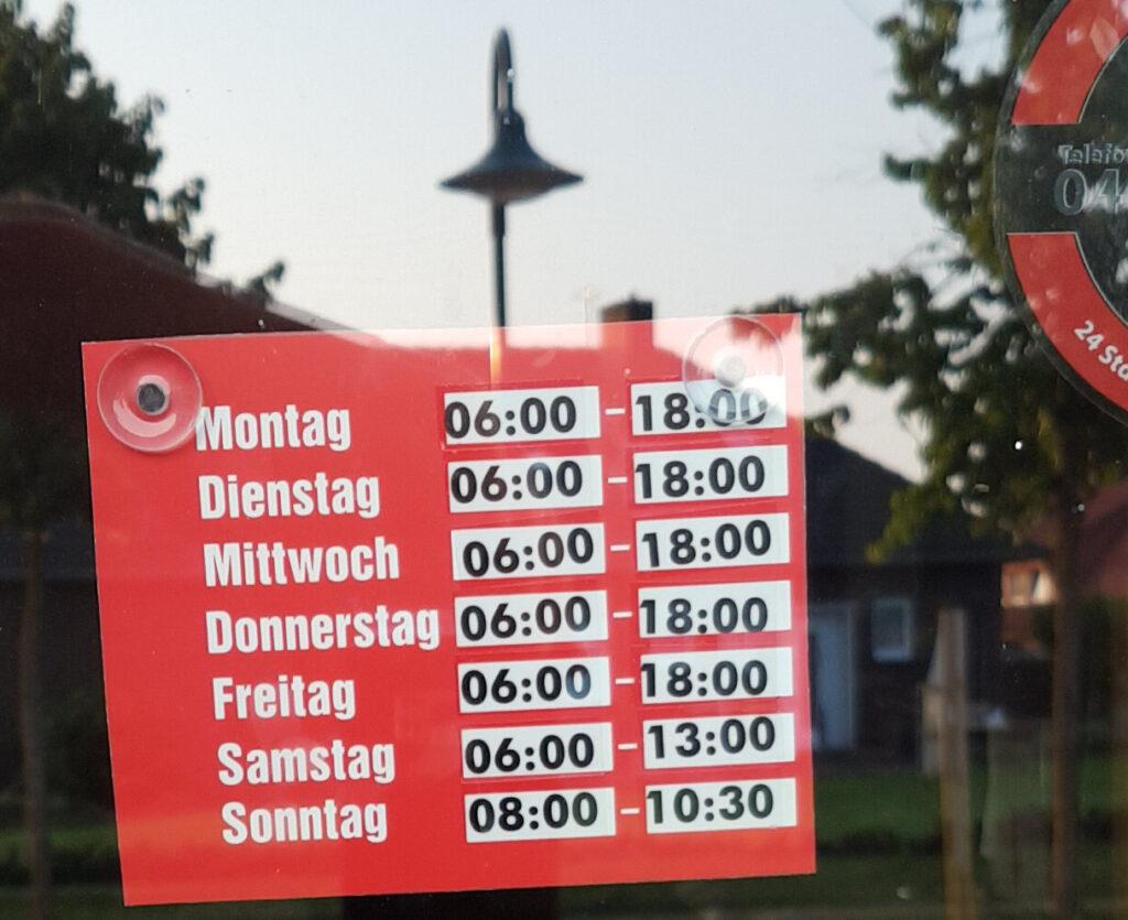 Öffnungszeiten des Wippinger Dorfladens