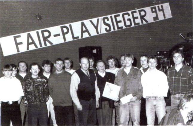 Siegerehrung in Barsinghausen 1994