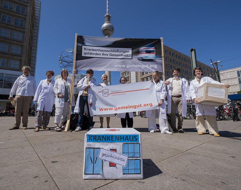 Krankenhausschließungen gefährden Ihre Gesundheit! (Foto: GiB)