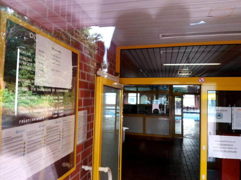 Eingangsbereich Dünenbad Dörpen