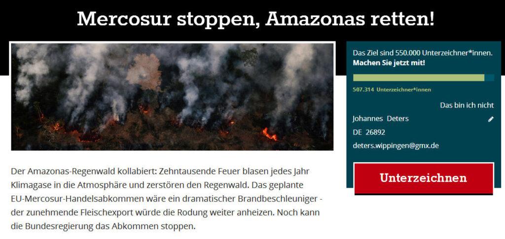 """Zur Campact-Seite """"Stoppt Mercosur"""""""