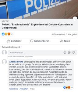 Screenshot von der EZ-Facebook-Seite