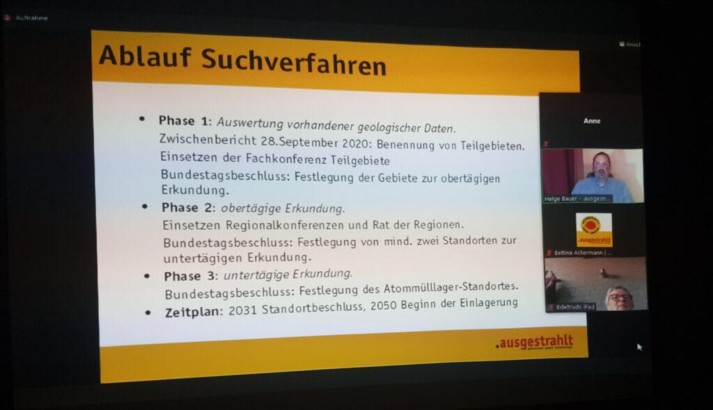 Online-Veranstaltung zum Atommülllager-Suchverfahren