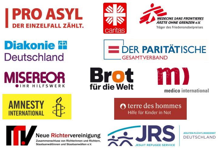 Hilfsorganisationen, die einen Wechsel in der Flüchtlingspolitik fordern