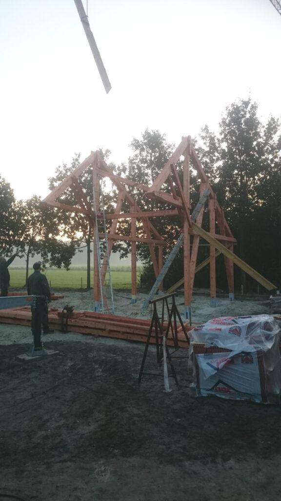 Baubeginn bei der Remise im Pfarrgarten 22.09.2020