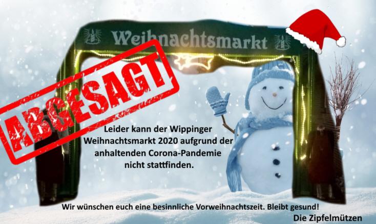 Absage Wippinger Weihnachtsmarkt 2020