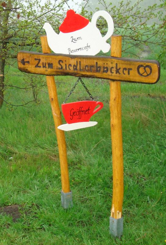 """Schild """"Zum Siedlungsbäcker"""""""